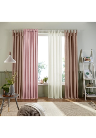 Home affaire Vorhang »Trier«, blickdicht, Bio Baumwolle, monochrom, basic kaufen