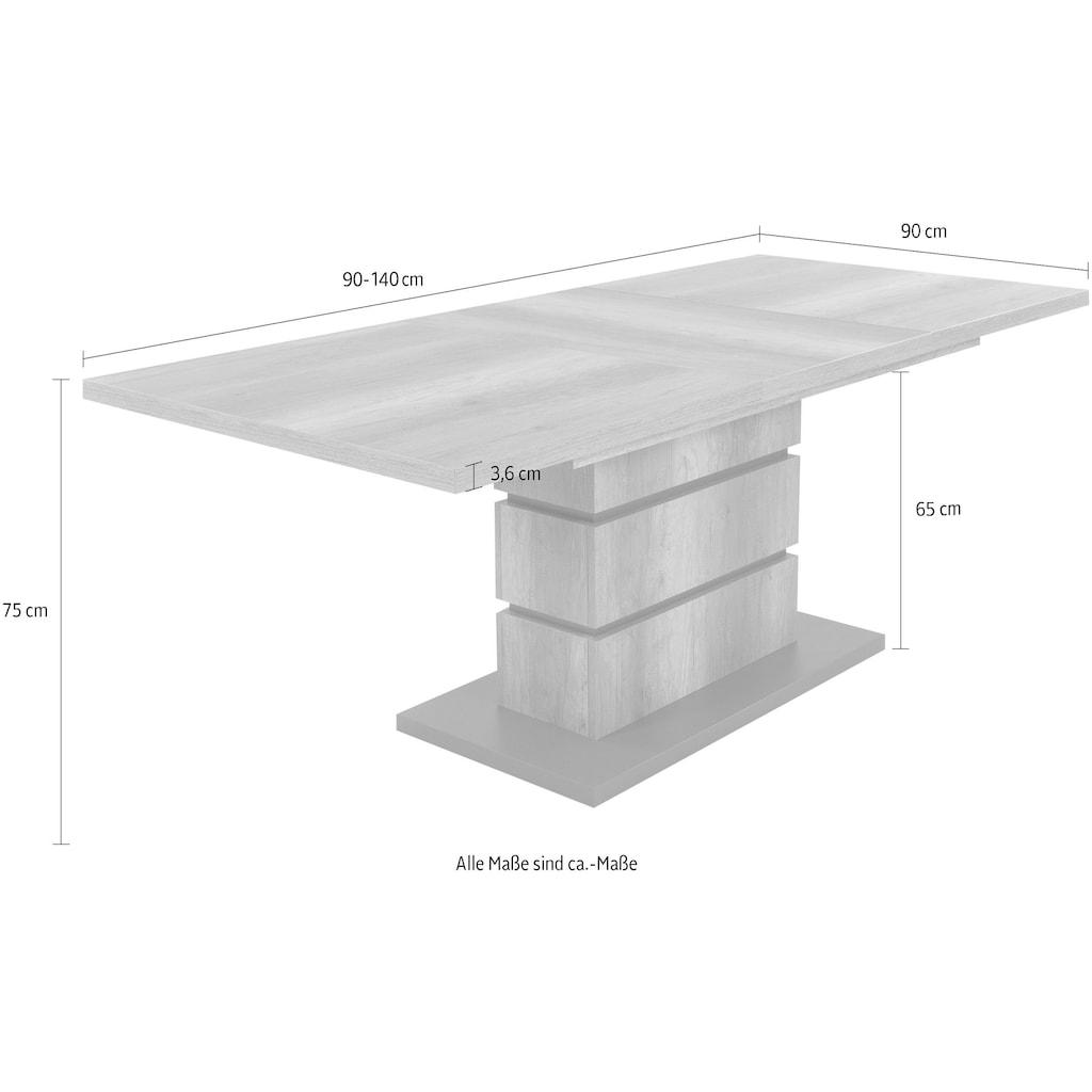 Homexperts Säulen-Esstisch »Bonnie«, mit Auszug (140-190 cm)