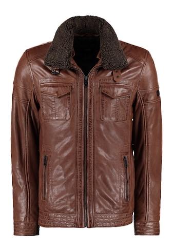 DNR Jackets Lederjacke, mit Teddyfellkragen kaufen