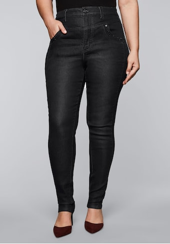 Sheego Stretch-Jeans, in High-Waist-Form kaufen