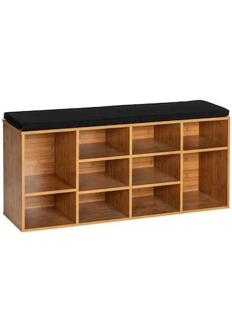 WENKO Schuhbank »Finja«, BxTxH: 90x34x55 cm, aus Bambus kaufen