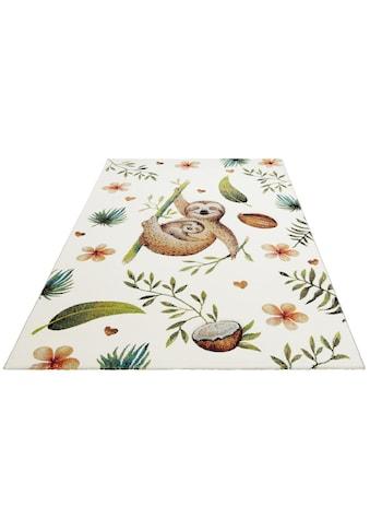 Lüttenhütt Kinderteppich »Birka«, rechteckig, 13 mm Höhe, Faultier-Motiv kaufen
