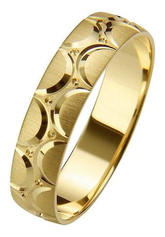 Firetti Trauring mit Gravur »gebürstet, Diamantschnitt, 5,0 mm breit«, Made in... kaufen