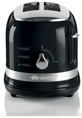 Ariete Toaster »149BK moderna schwarz«, 2 kurze Schlitze, 815 W kaufen