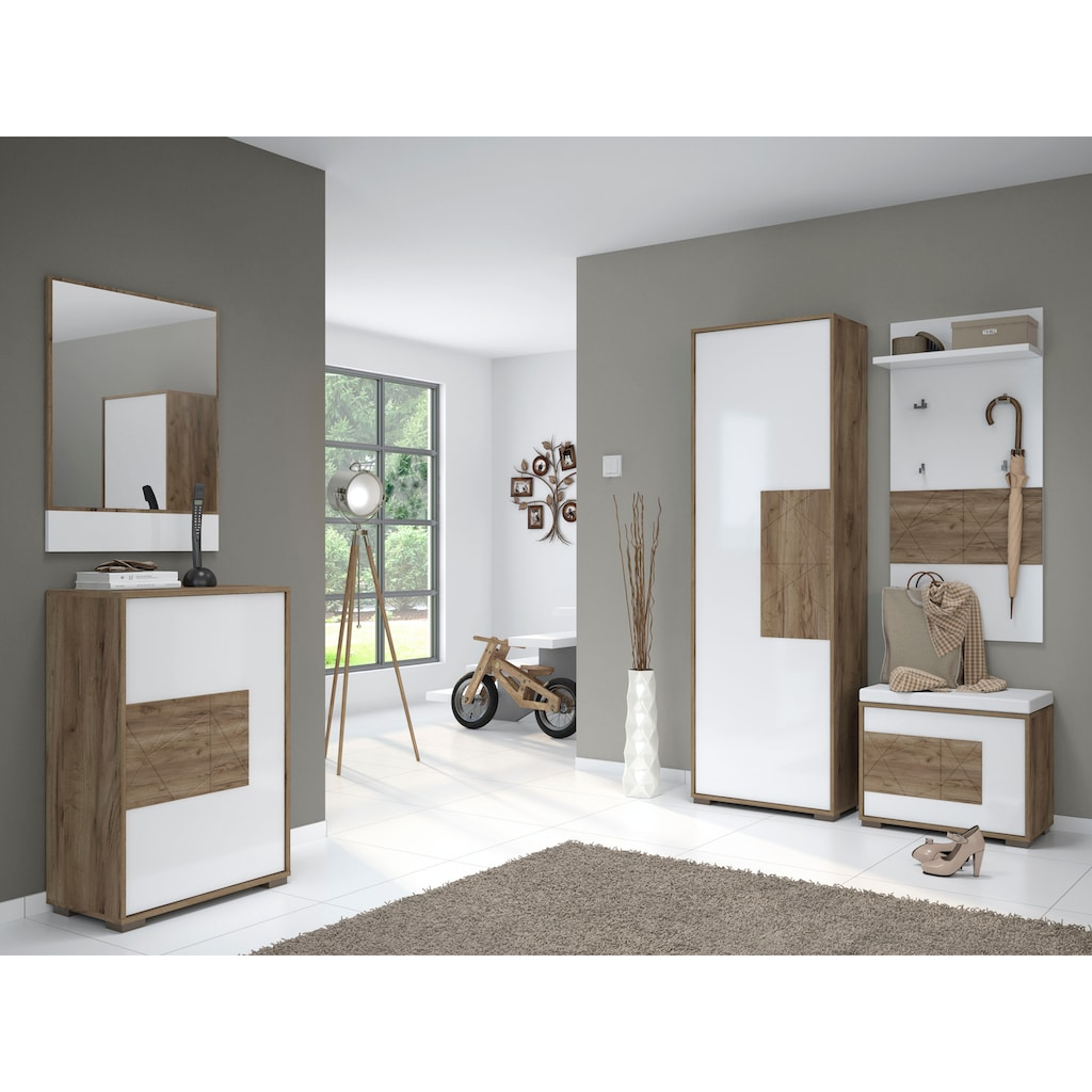 Places of Style Schuhschrank »Stela«, mit Push-to-open-Funktion und weiss UV-lackierte Front