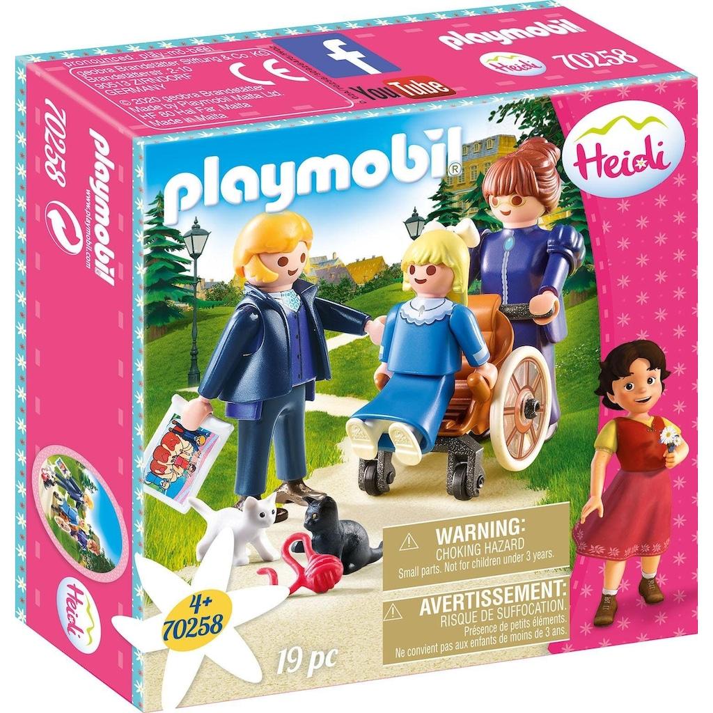 Playmobil® Konstruktions-Spielset »Clara mit Vater und Fräulein Rottenmeier (70258), Heidi«, Made in Europe