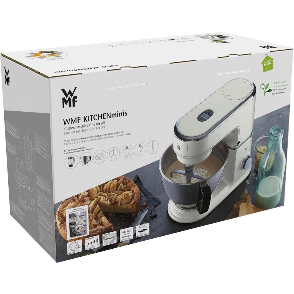 WMF Küchenmaschine »KÜCHENminis® One for All Edition, naturweiß«, 430 W, 3 l Schüssel, mit Gratis Fleischwolf