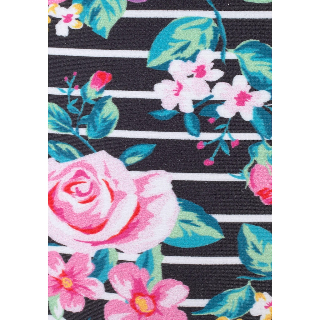 s.Oliver Beachwear Bügel-Bandeau-Bikini, mit Blumenprint