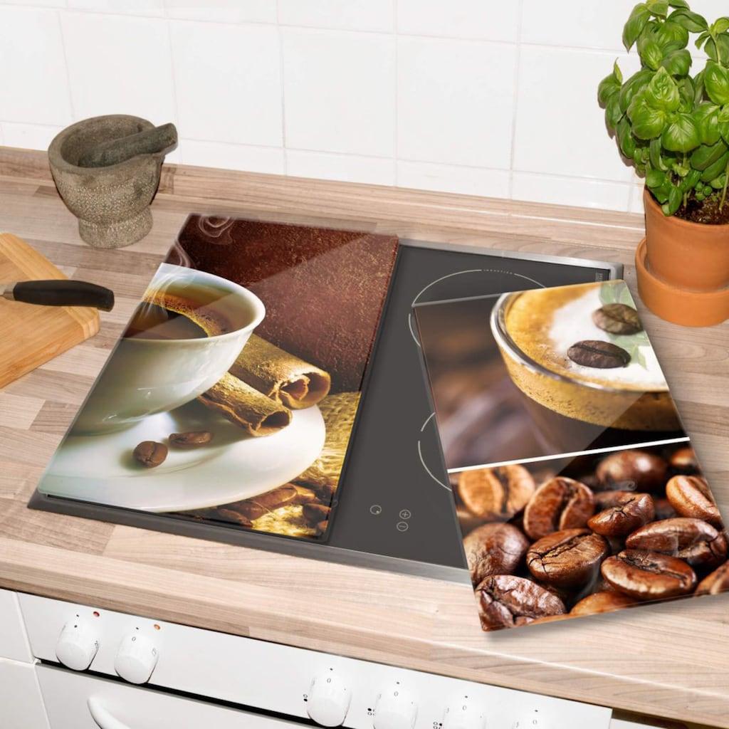 Wall-Art Herd-Abdeckplatte »Küche Herdabdeckplatte Kaffee«, (Set, 2 tlg.)