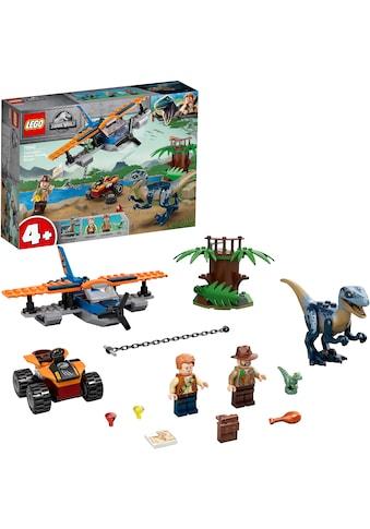LEGO® Konstruktionsspielsteine »Velociraptor: Rettungsmission mit dem Doppeldecker... kaufen