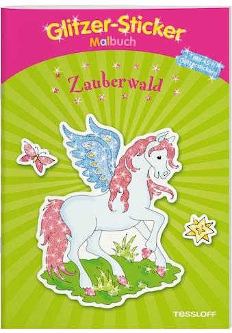 Buch Glitzer - Sticker Malbuch Zauberwald / Corina Beurenmeister kaufen