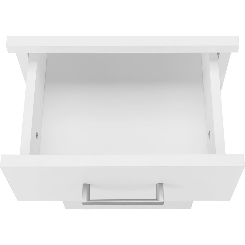 Schildmeyer Badmöbel-Set »Mobes«, (Set, 4 St.), aus Hochschrank, Waschbeckenunterschrank, Unterschrank und Wandregal! Badschränke mit praktischem Stauraum durch viele Fächer, Türanschläge wechselbar