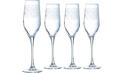 Luminarc Sektglas »Paradisio«, (Set, 4 tlg.), in Pantographie-Optik, 4-teilig kaufen