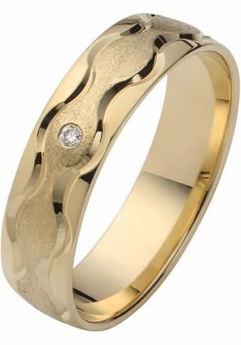 Firetti Trauring mit Gravur »glanz, eismatt, Diamantschnitt in Wellenform, 5,0 mm... kaufen