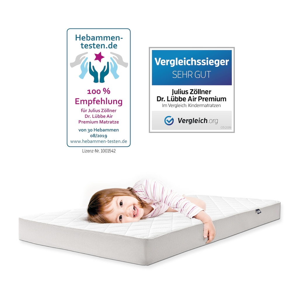Julius Zöllner Babymatratze »Dr. Lübbe Air Premium«, 10 cm cm hoch, (1 St.), Hergestellt in Deutschland!