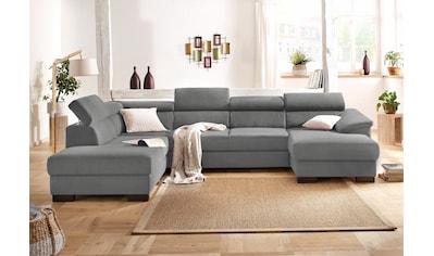 Home affaire Wohnlandschaft »Mika«, wahlweise mit Bettfunktion kaufen