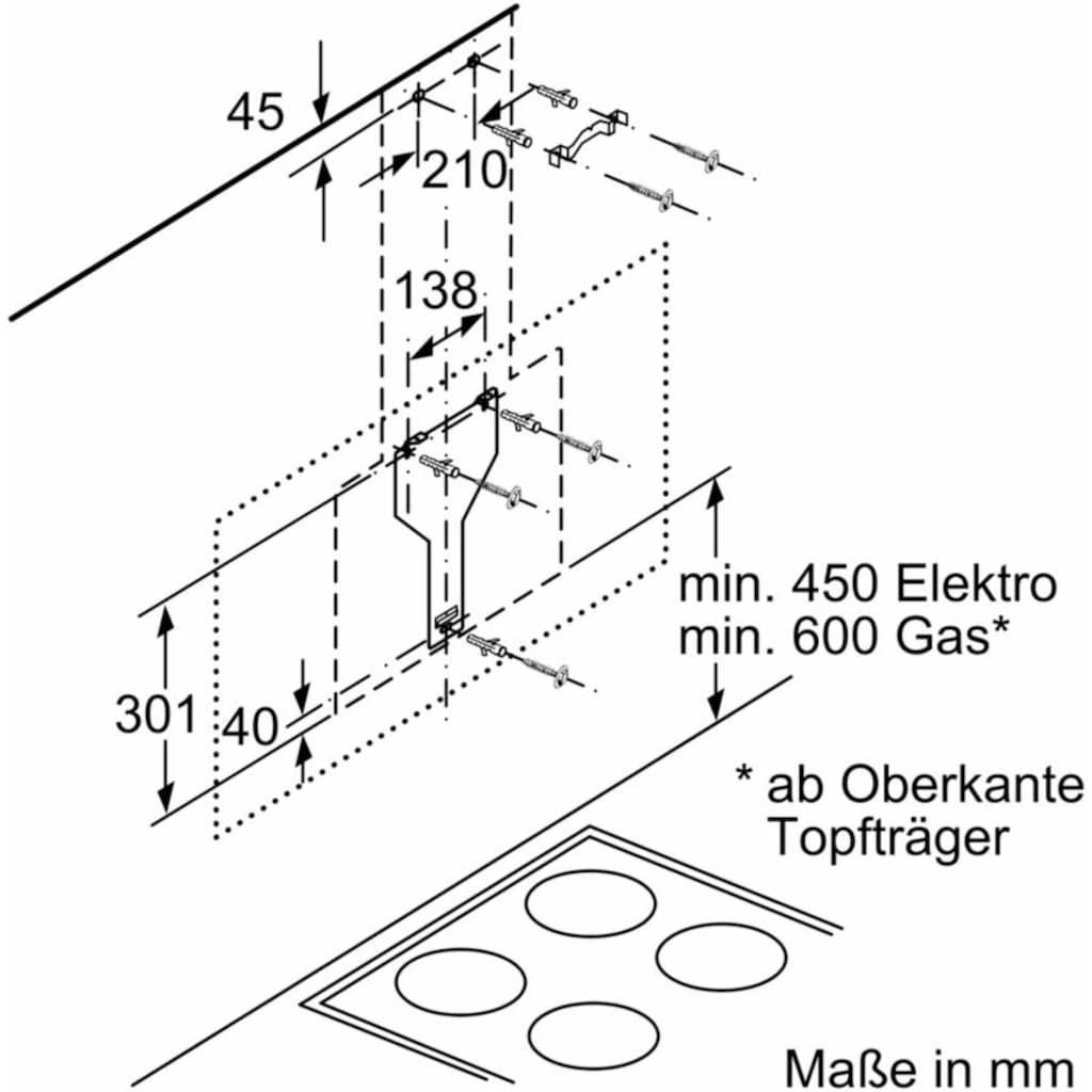 BOSCH Kopffreihaube »DWK98PR60«