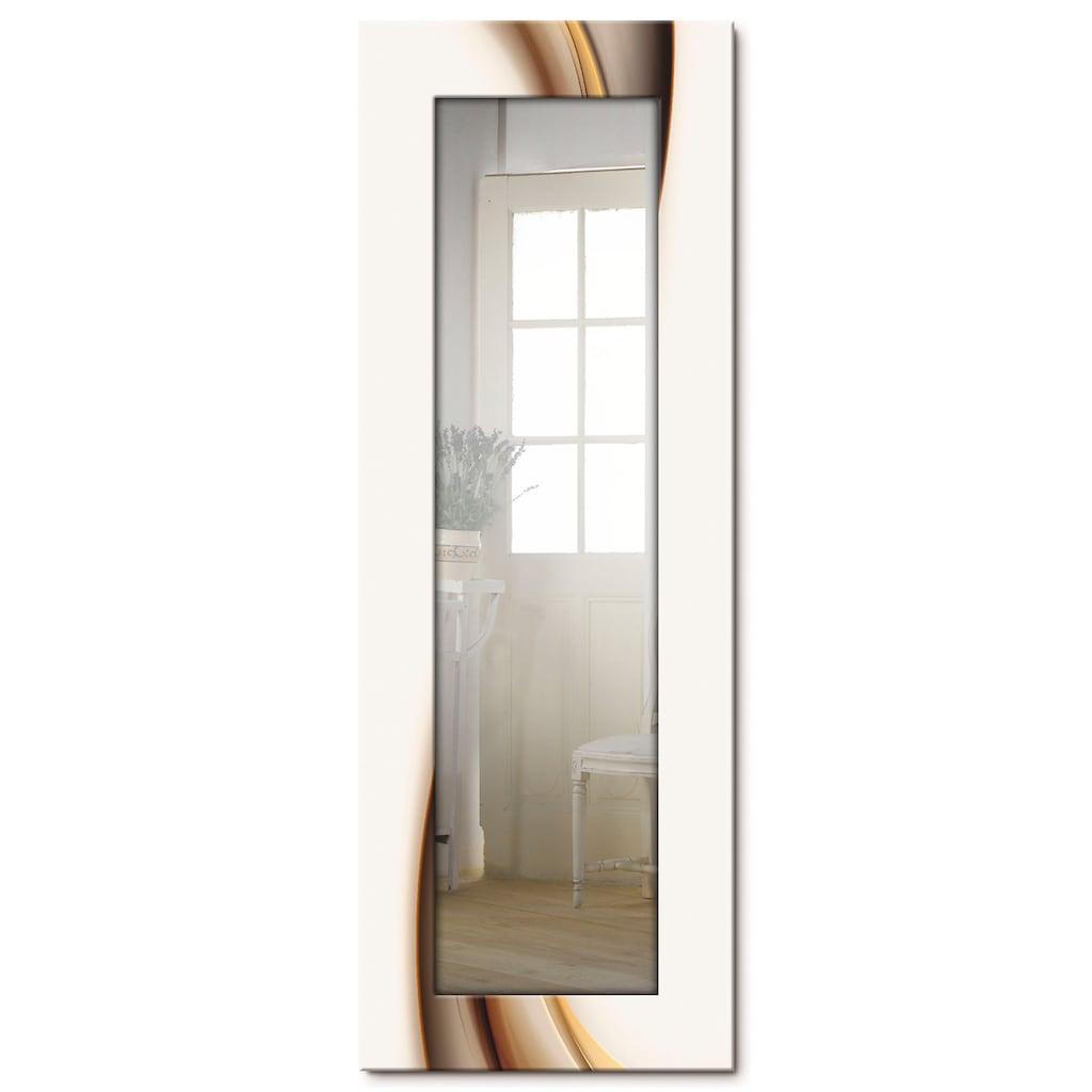 Artland Wandspiegel »Welle«, gerahmter Ganzkörperspiegel mit Motivrahmen, geeignet für kleinen, schmalen Flur, Flurspiegel, Mirror Spiegel gerahmt zum Aufhängen