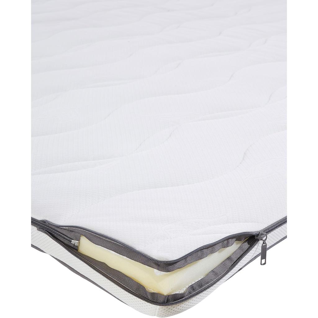 Leonique Boxspringbett »Océane«, (4 St.), Bodenfrei- wirkt freischwebend, verschiedene Härtegrade (auch H4)