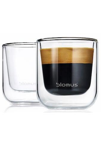 BLOMUS Espressoglas »NERO«, (Set, 2 tlg.), Doppelwandig, 2-teilig kaufen