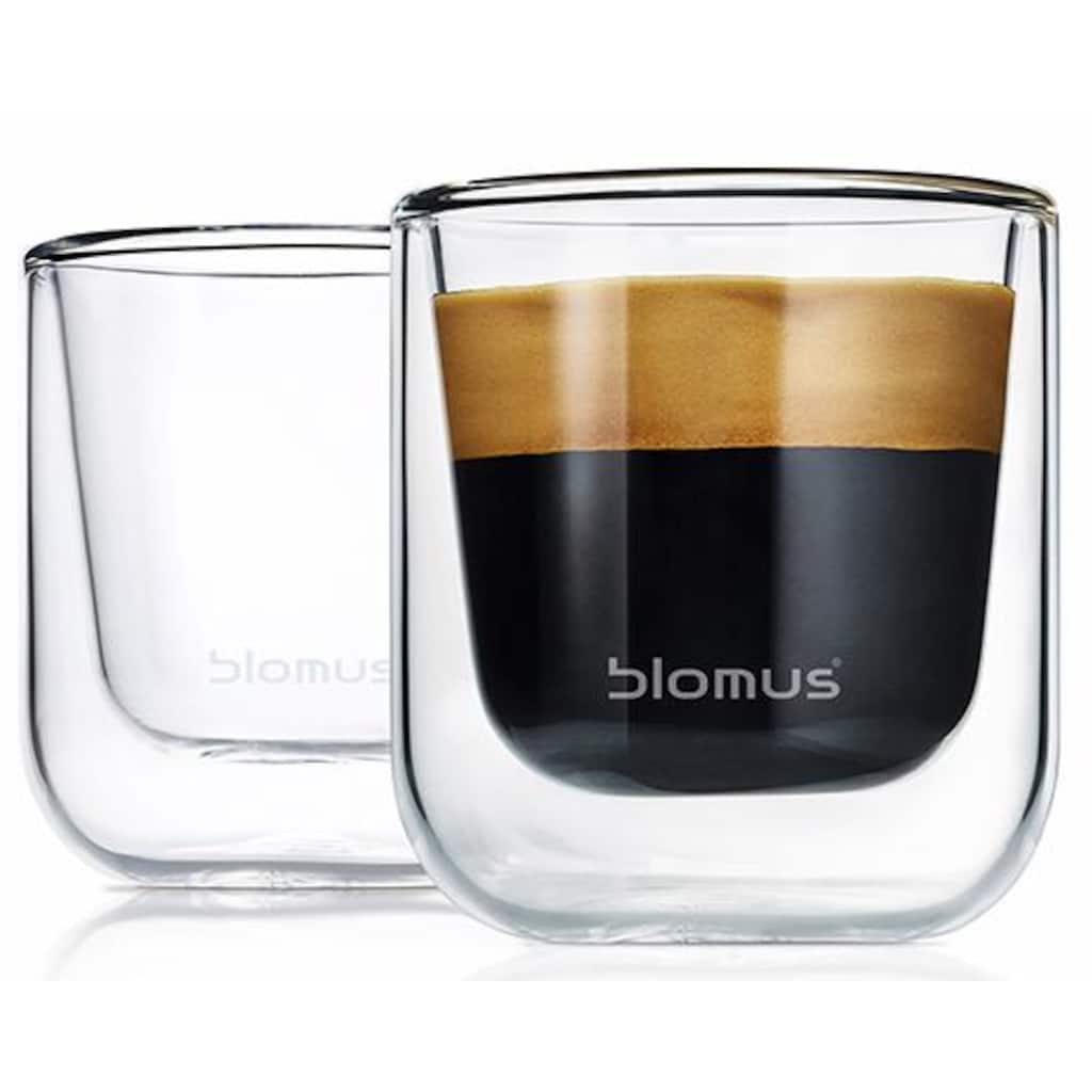 BLOMUS Espressoglas »NERO«, (Set, 2 tlg.), Doppelwandig, 2-teilig