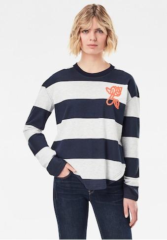 G-Star RAW Sweatshirt »Striped Tweater«, im Streifen Design mit gerippten... kaufen