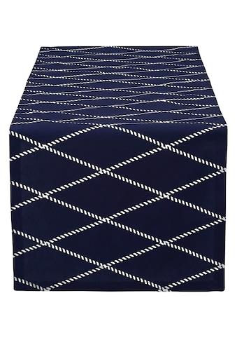 Home affaire Tischläufer »Nervi«, (1 St.), aus Bio-Baumwolle, mit Rautenmotiv kaufen