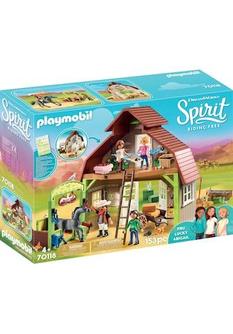 Playmobil® Konstruktions-Spielset »Stall mit Lucky, Pru & Abigail (70118), Spirit... kaufen