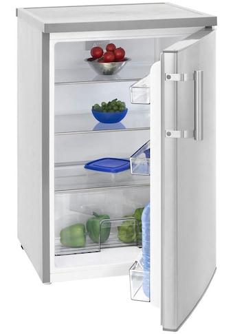 exquisit Kühlschrank »KS 16-1 RV A+++Inox look«, 84,5 cm hoch kaufen