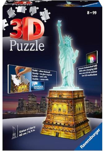 Ravensburger 3D-Puzzle »Freiheitsstatue bei Nacht«, Made in Europe, FSC® - schützt... kaufen