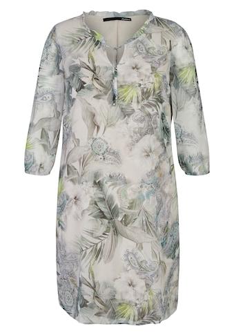 LeComte Blusenkleid, mit floralem Muster und V-Ausschnitt kaufen