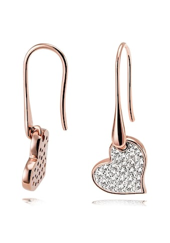 goldmaid Paar Ohrhänger 925/ -  Silber rotvergoldet 52 Zirkonia kaufen