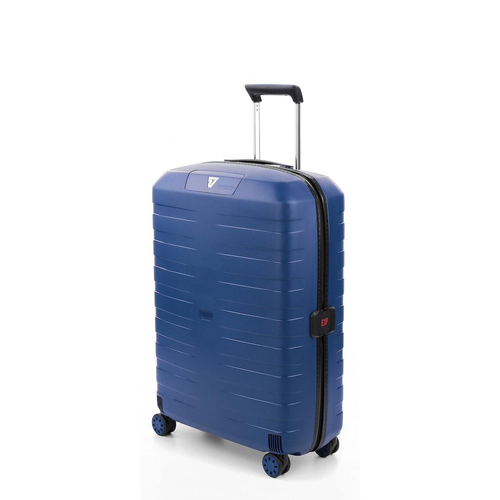 RONCATO Hartschalen-Trolley »BOX 4.0, 69 cm«, 4 Rollen, mit Volumenerweiterung; Made in Europe
