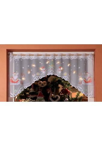 WILLKOMMEN ZUHAUSE by ALBANI GROUP Panneaux »Weihnachtsmann«, Jacquard-Panneauxbogen,... kaufen