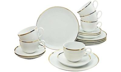 """Guido Maria Kretschmer Home&Living Kaffeeservice """"Golden Line"""" (18 - tlg.), Porzellan kaufen"""