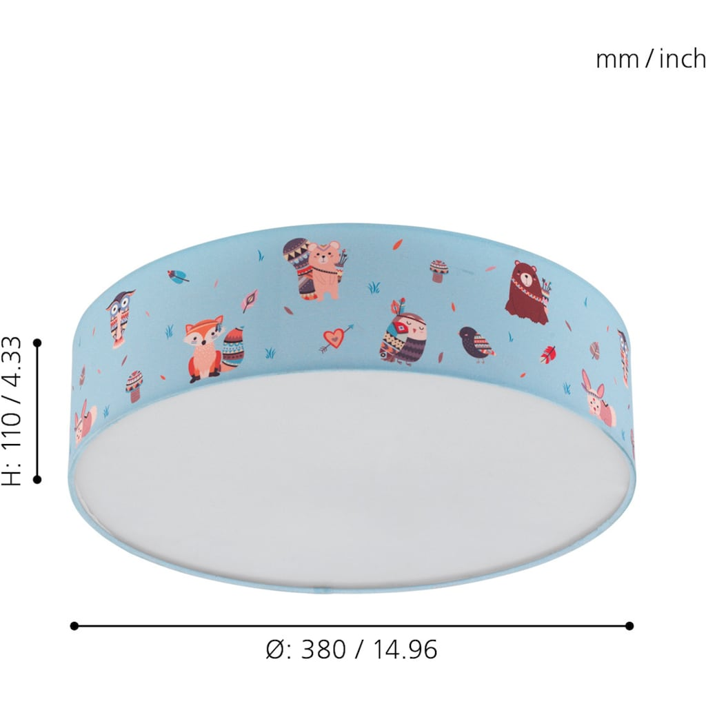 EGLO Deckenleuchte »RUFFO«, E27, Deckenlampe