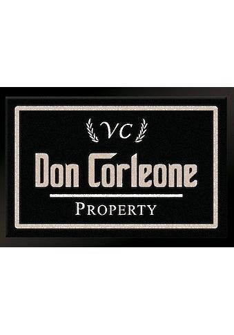 HANSE Home Fußmatte »Don Corleone - Mafia«, rechteckig, 7 mm Höhe, Fussabstreifer, Fussabtreter, Schmutzfangläufer, Schmutzfangmatte, Schmutzfangteppich, Schmutzmatte, Türmatte, Türvorleger kaufen