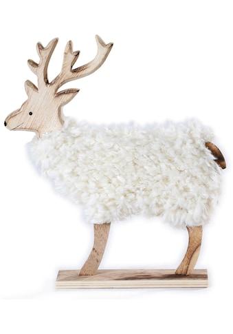 CHRISTMAS GOODS by Inge Tierfigur, Hirsch mit Kunstfell kaufen