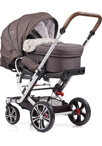 Gesslein Kombi-Kinderwagen »F6 Air+, Eloxiert Tabak« mit Tragetasche »C2 Compact, Stern« kaufen