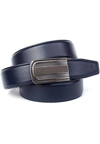 Anthoni Crown Ledergürtel, in Hirschprägung mit Bicolor-Schließe kaufen