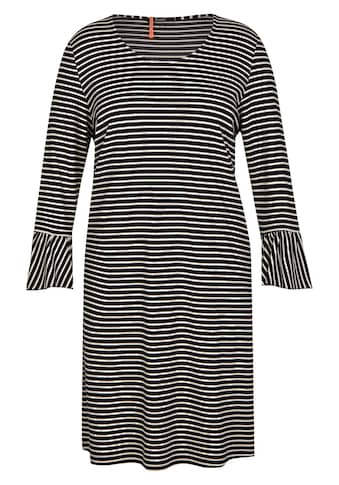 FRAPP Charmantes Ringel-Kleid mit Volants kaufen