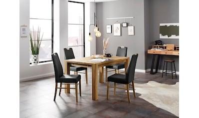 Home affaire Essgruppe »Nils«, (Set, 5 St., Tisch 140/90 cm, 4 Polster-Stühle), aus... kaufen