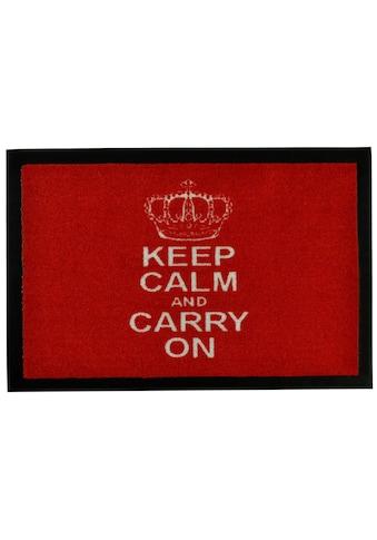HANSE Home Fußmatte »Keep Calm«, rechteckig, 7 mm Höhe, Fussabstreifer, Fussabtreter, Schmutzfangläufer, Schmutzfangmatte, Schmutzfangteppich, Schmutzmatte, Türmatte, Türvorleger, mit Spruch kaufen