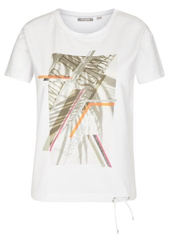 Rabe T-Shirt, mit abstraktem Front-Print und Tunnelzug kaufen