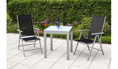 MERXX Gartenmöbelset »Amalfi«, 3 - tlg., 2x Klappsessel, Tisch 65x65 cm kaufen