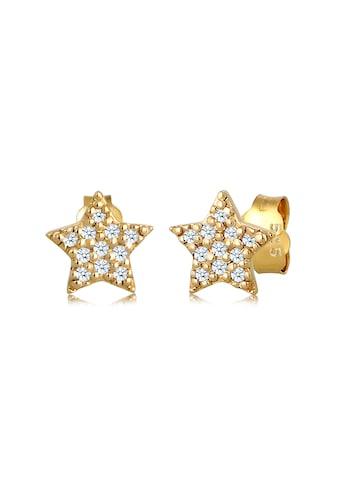 Diamore Paar Ohrstecker »Sterne Astro Trend Diamant (0.11 ct.) 585 Gelbgold« kaufen