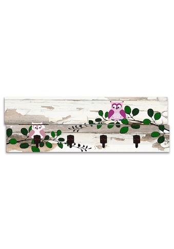 Artland Garderobenpaneel »Eulen«, platzsparende Wandgarderobe aus Holz mit 4 Haken,... kaufen