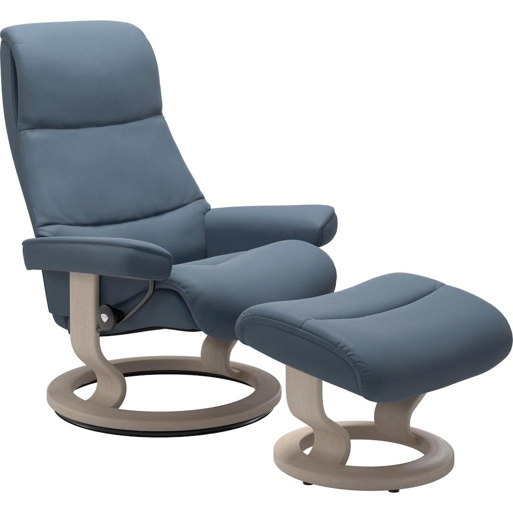 Stressless® Relaxsessel »View«, mit Classic Base, Größe L,Gestell Whitewash