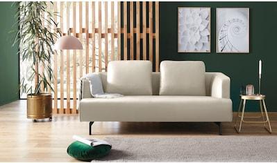 hülsta sofa 3-Sitzer »hs.440«, wahlweise in Stoff oder Leder, Spangenfüße umbragrau kaufen