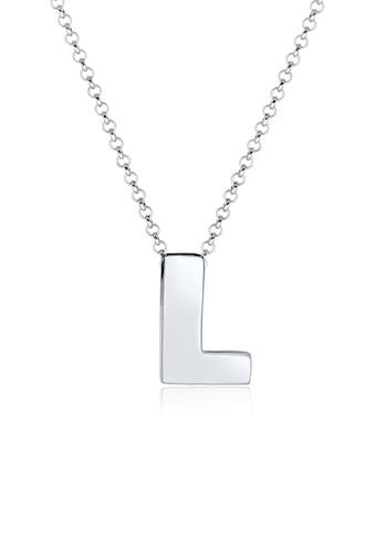 Elli Kette mit Anhänger »Buchstabe L Initialen Trend Minimal 925 Silber« kaufen